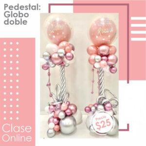 Pedestal: Globo Doble / Double Balloon column
